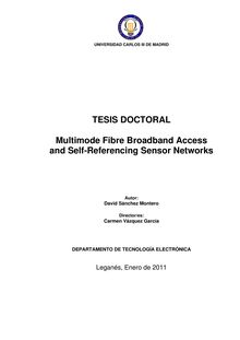 Multimode fibre broadband access and self-referencing sensor networks