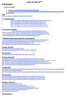 Liste de site pour travailler la grammaire, le vocabulaire en classe de 6ème et 5ème