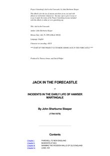 Jack in the Forecastle - or, Incidents in the Early Life of Hawser Martingale