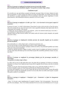 Exercices de réécriture - français pour les élèves en classe de 5e