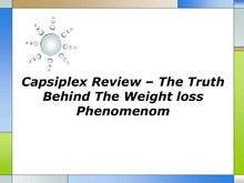 Capsiplex Review The Truth Behind The Weight loss Phenomenom