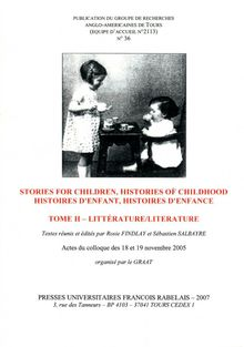 Stories For Children, Histories of Childhood / Histoires d