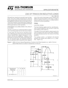 USE OF TRIACS ON INDUCTIVE LOADS By J BELLIN