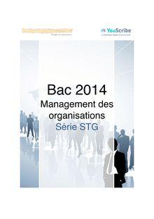 Corrigé bac 2014 - Série STMG - Management des organisations