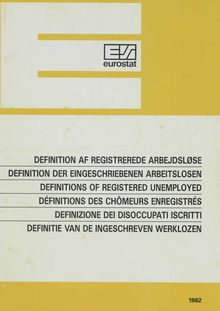 Definitions of registered unemployed
