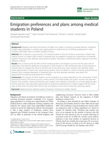 Emigration preferences and plans among medical students in Poland