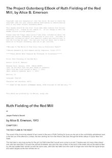 Ruth Fielding of the Red Mill - Or, Jasper Parloe