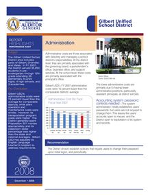 Gilbert Unified School District Audit Report Highlights