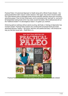 Practical, Paleo, A, Customized, Approach, to, Health, and, a, WholeFoods, Lifestyle, Book, Review