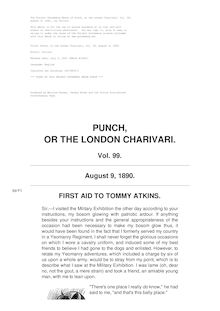 Punch, or the London Charivari, Volume 99, August 9, 1890