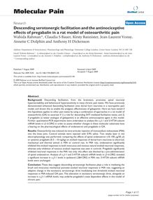 Descending serotonergic facilitation and the antinociceptive effects of pregabalin in a rat model of osteoarthritic pain