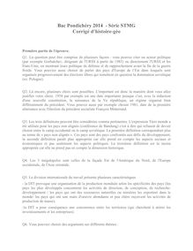 Corrigé bac 2014 (Pondichéry) - Série STMG - Histoire-Géo