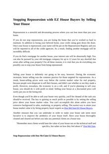 Stopping Repossession with EZ House Buyers by Selling Your House