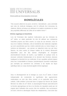 Définition de : BIOMOLÉCULES - Didier LAVERGNE