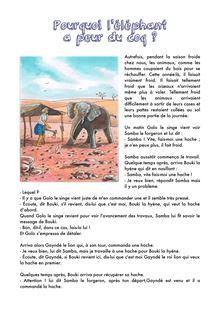 Pourquoi l'éléphant a peur du coq