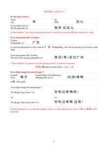 Cours de chinois : le passé - apprendre le chinois