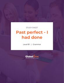 Past perfect - I had done