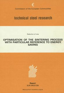 Optimization of the sintering process with particular reference to energy saving
