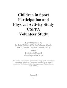 Children in Sport Participation and Physical Activity Study (CSPPA ...