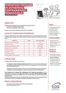 Formation tertiaire en EEP - Parcours moyens -