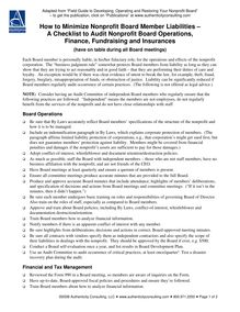 2-Checklist to Audit Board Finance Fundraising  Insurances.…