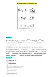 Fiche d'exercices sur l'impératif - cours de français 5ème