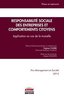Responsabilité sociale des entreprises et comportements citoyens - Najoua Tahri