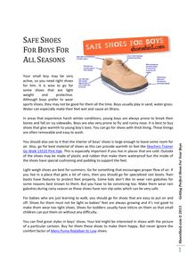 Safe Shoes For Boys For All Seasons