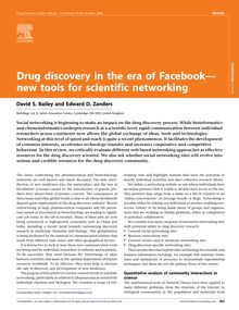 Drug discovery in the era of Facebook— new tools for scientific ...