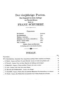 Partition Title Page, Der vierjährige Posten, D.190, The Four-Year Post