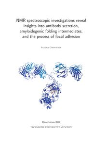 NMR spectroscopic investigations reveal insights into antibody secretion, amyloidogenic folding intermediates, and the process of focal adhesion [Elektronische Ressource] / Sandra Groscurth