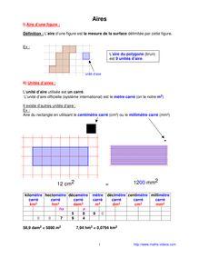 Mathématiques CM2 : Aires