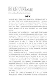 Définition de : BIEN - Olivier TINLAND