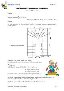 Exercices sur les équations du second degré - Annales du ...