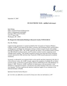 Comment Ltr - Research Awards 9-15