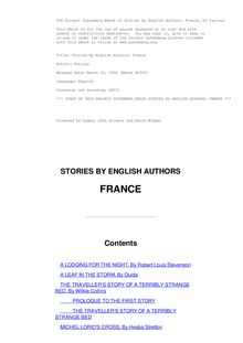 Stories By English Authors: France (Selected by Scribners)