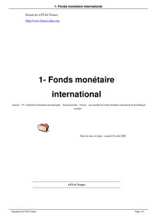 1  fonds monétaire international
