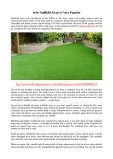 Why Artificial Grass is Very Popular