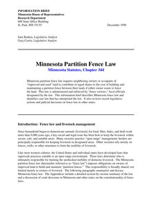 Minnesota Partition Fence Law