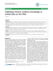 Publishing Chinese medicine knowledge as Linked Data on the Web