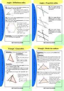 Fiche de révision - Géométrie 4ème (1)