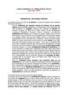 Lecture analytique n° 4 - Phèdre, Acte IV, scène 6
