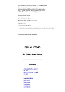 Paul Clifford — Complete
