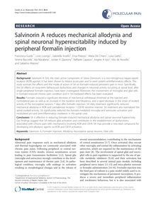 Salvinorin A reduces mechanical allodynia and spinal neuronal hyperexcitability induced by peripheral formalin injection