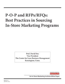 P-O-P and RFPs/RFQs: Best Practices in Sourcing In-Store Marketing ...