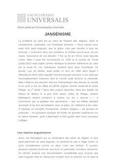 Définition et synonyme de : JANSÉNISME - LOUIS CHATELLIER