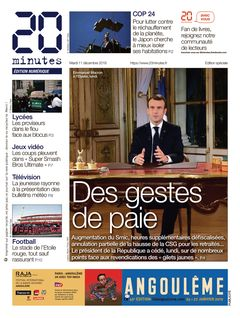 20 minutes Edition Nationale du 11-12-2018 - 20 minutes Edition Nationale