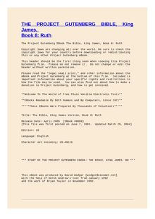 The Bible, King James version, Book 8: Ruth