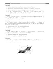 Chapitre sur les configurations planes Activité 8