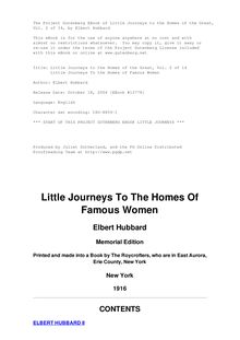 Little Journeys to the Homes of the Great - Volume 02 - Little Journeys To the Homes of Famous Women